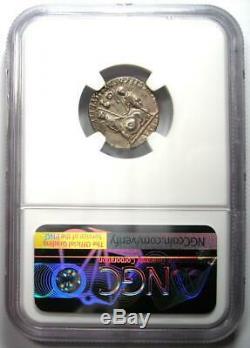 Auguste Ar Denier Silver Coin 27 Bc 14 Ad (lugdunum). Certifié Ngc Xf (ef)