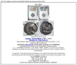 Auguste Biblique Jésus-christ Temps Rendre Caesar Argent Romaine Monnaie Ngc I80680