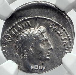 Auguste Biblique Jésus-christ Temps Rendre Caesar Argent Romaine Monnaie Ngc I81737