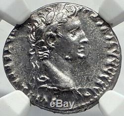 Auguste Biblique Jésus-christ Temps Rendre Caesar Argent Romaine Monnaie Ngc I82352