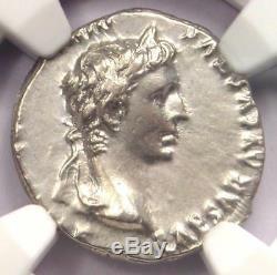 Auguste Romain Ar Denarius Coin Lugdunum 27 Av. J.-c. 14 Après Jc Ngc Au