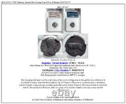 Augustus 15bc Authentique Ancienne Pièce Romaine D'argent Bull De Thouroi Ngc I81547
