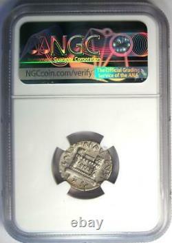 Augustus Ar Denarius Coin 19 Av. J.-c. (q. Rustius, Fortuna) Certifié Ngc Xf (ef)