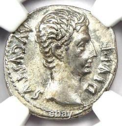 Augustus Ar Denarius Coin 27 Bc 14 Ad (lugdunum Mint). Certifié Ngc Choice Vf