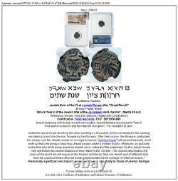 Authentique Vieille Guerre Jewish Vs Romains 67ad Historique Jerusalem Pièce Ngc I83928
