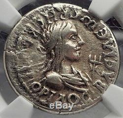 Bosporus Roi Rheskuporis II & Roman Élagabal Electrum Ancienne Pièce De Monnaie Ngc I58600