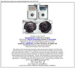 Brutus Jules César Assassin Ancêtres République Romaine Argent Monnaie Ngc I81701