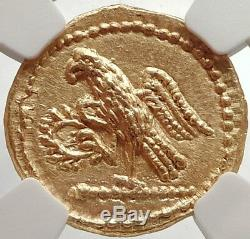 Brutus Jules César Romain Assassin 44bc Grec Ancien Pièce D'or Ngc Ms I66667
