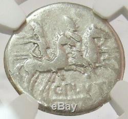 C. 121 Bc Argent République Romaine C. Denier Plutius Coin Ngc Bon Choix