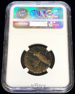 C. 16/15 -10 Bc Rome Gaule Nemausus Agustus & Agrippa Ae Dupondius Coin Ngc Beaux