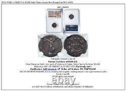 CIVIL Wars Vs Nero Very Rare Galba Vindex Ancien Argent Roman Coin Ngc I86400