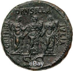 Caligula 3 Soeurs Sestertius Drusilla Agrippina Pièce De Monnaie Romaine Certifiée Ngc I54741