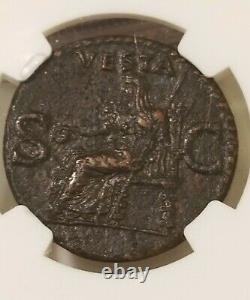 Caligula Roman Empire Ae As 37-41 Ad Ngc Choice Vf Ancient Coin
