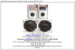 Caracalla Authentique Ancien 217ad Rome Véritable Monnaie Romaine Lion Ngc I71724