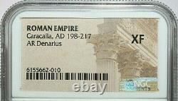 Caracalla Ngc Xf Roman Coins, Ad 198-217. L'ar Denarius. A786