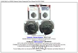 Caracalla Sur Horse Authentique Trajanopolis Thrace Roman Coin Ngc I72662