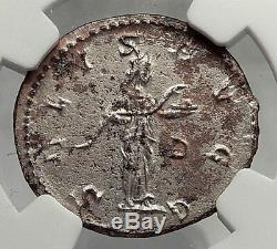 Carinus 284ad Authentique Pièce De Monnaie Romaine Argentée Ancienne Salus Ngc Certifiée I62061