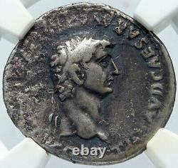 Claudius Très Rare Denarius 49ad Ancient Silver Roman Coin Ngc Certifié I86171