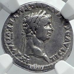 Claudius Très Rare Denier Authentique Ancien 46ad Romain Silver Coin Ngc I81778