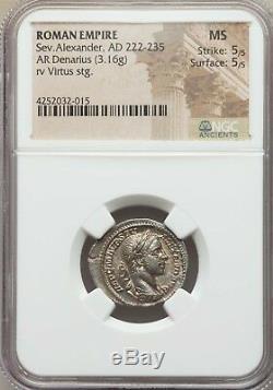 Coin Romain Alexandre Sévère (ad 218-222) Ar Denarius