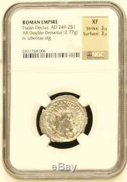 Coin Trajan Dèce, Ad 249-251 Empire Romain Dénomination Ar Double-denar
