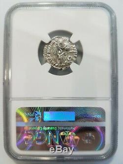 Commode Empire Romain Ad 177-192 Ngc Au Argent Ar Denier Ange Pièce Ancienne