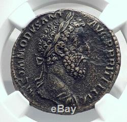 Commodus Adresses Légionnaires 186ad Sestertius Roman Coin Ngc I81364