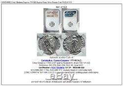 Commodus Gladiateur Empereur 190ad Rome Antique Romaine Argent Monnaie Ngc I81430