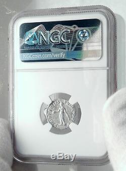 Commodus L'empereur Coin Gladiator Romain Antique Argent Hercules Ngc I81434