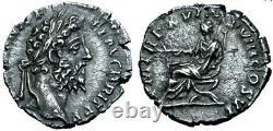 Commodus Ngc Xf. Denarius Exceptionnel. Fils De Marc-aurèle. Pièce D'argent Romaine