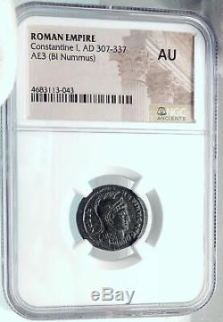 Constantine I Le Coin Romain Great Authentique Ancien 319ad W Standard Ngc I81915