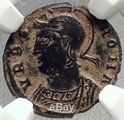Constantine I Le Grand 330ad Romulus Remus Wolf Antique Romaine Monnaie Ngc I69154