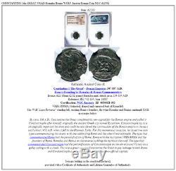 Constantine I Le Grand 330ad Romulus Remus Wolf Antique Romaine Monnaie Ngc I82592