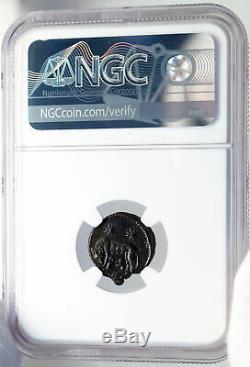 Constantine I Le Grand 330ad Romulus Remus Wolf Antique Romaine Monnaie Ngc I82631
