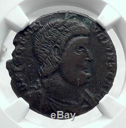 Decentius Véritable Ancien 351ad Romain Coin Jésus Chrisme Christogram Ngc I81331