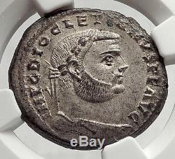 Diocletien 301ad Alexandria Follis Ngc Certifié Choix Ms Roman Coin I63348
