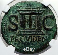 Divus Auguste Authentique Ancient Rome 22ad Dupondius Roman Coin Ouvre Ngc I82696