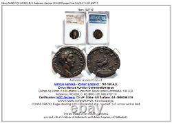Divus Marcus Aurelius Authentique Antique 180ad Roman Coin Eagle Ngc I82715