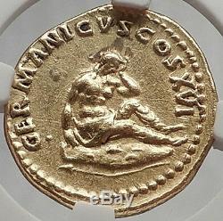Domaine 92 Ad Jc Germania Capta Authentique Pièce D'or Romaine Ancienne Certifiée Ngc Au