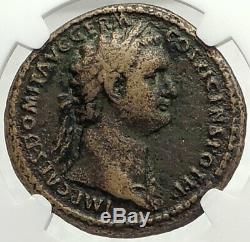Domitien Allemagne Germania Capta Ancien 85ad Rome Sesterce Roman Coin Mbac