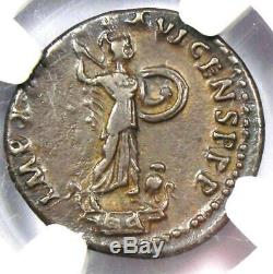 Domitien Romain Auguste Ar Denarius Coin 81-96 Certifié Ngc Vf