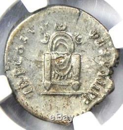 Domitien Romain Auguste Ar Denarius Coin 81-96. Certifié Ngc Xf (ef)