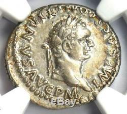 Domitien Romain Auguste Ar Denarius Dolphin Coin 81-96 Ngc Xf Choix