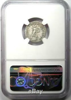 Domitien Rome Antique Ar Denarius Coin 81-96. Certifié Ngc Choix Vf