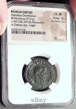 Domitius Domitainus Usurpateur Vs Dioclétien Tres Rare Ancienne Pièce De Monnaie Ngc Ch Xf Roman
