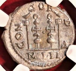 E-coins Australie Élagabal Ar Denarius Ngc Ch Vf Imperial Concord Milit Roman