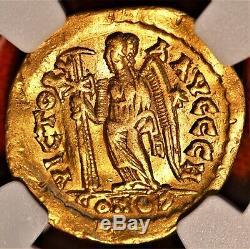 E-coins Australie Leo I Or Av Solidus. 457-474ad. Empire Romain D'orient Ngc Xf