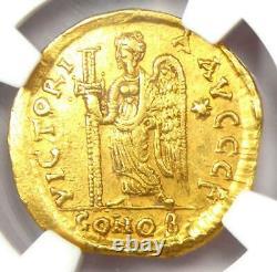 Eastern Roman Anastasius I Av Solidus Gold Coin 491-518 Ad Certifié Ngc Ch Xf