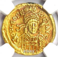Eastern Roman Leo I Av Solidus Gold Coin 457-474 Ad Certifié Ngc Xf (ef)