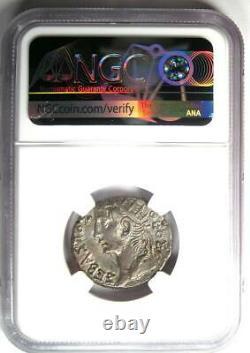 Égypte Romaine Tibère Avec Auguste Ar Tetradrachm Coin 33 Ad Ngc Choice Xf